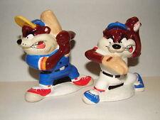 2003 Warner Bros LooneyTunes Taz Baseball Salt & Pepper Shaker Set