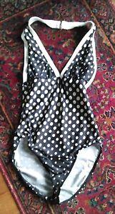 fa1256fa171 La Blanca by Rod Beattie Sz 8 One Pc Halter Swimsuit- Black&White ...