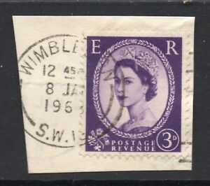 GB  QE2 Postmark  WIMBLEDON  SW19 1963 Thin Arcs cancel - WIGAN, Greater Manchester, United Kingdom - GB  QE2 Postmark  WIMBLEDON  SW19 1963 Thin Arcs cancel - WIGAN, Greater Manchester, United Kingdom