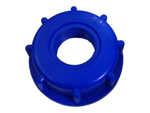 """1 X ADATTATORI IBC Cappuccio con 1/"""" /""""IG per un rubinetto rubinetto di acqua piovana TANK #722 1/"""""""