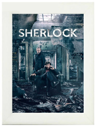 A3 A4 Sizes Sherlock TV Show Poster or Canvas Art Print Framed Option