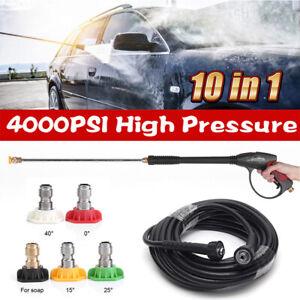 4000PSI High Pressure Power Washer Spray 5 Nozzle Water Gun Lance Wand Hose kit