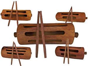 Krin Schlitztrommel Kolokolo Kiringi Slite Drum Mali Westafrika Palisander