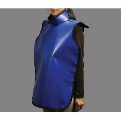 """LEAD ADULT APRON 0.3MM WITH COLLAR - BLUE PROTECTALL 24"""" x 36"""