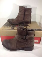 COBB HILL Womens Caroline Stone Brown Leather Ankle Boots Shoes Size 7.5 ZE-2106