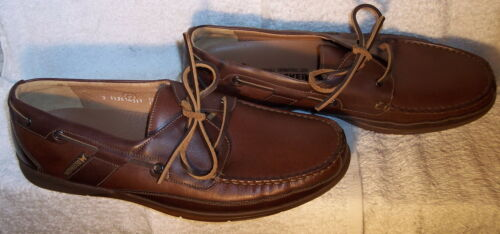 Mephisto Spinnaker sz 13 Brown Leather Moccasin Bo