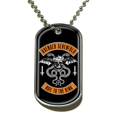 Avenged Sevenfold Biker Pendant Logo Black Dog Tag Chain Album Cover Official