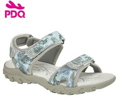 Ladies PDQ Floral Touch Fastening Comfy Sports Walking Sandals Sizes 3-8 UK