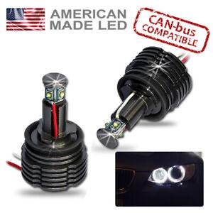 BMW H8 LED Angel Eye Kit Bright 60w H8 Marker DRL Side Lights Bulbs