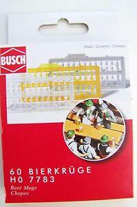 Busch 7783 Beer Mugs HO Gauge Pk60