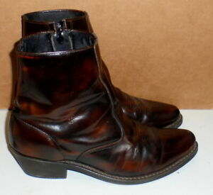 5fceabdc248 Details about MENS LAREDO 62004 LONG HAUL COLLECTION ANTIQUE BROWN ZIPPER  ANKLE BOOTS 10.5 D