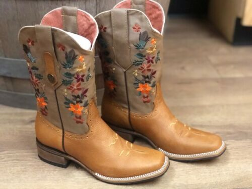 Bota Rodeo Para Dama Women's Western Square Toe 100/% Piel