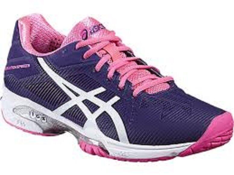 NEW femmes ASICS GEL-SOLUTION SPEED 3 (3301  violet blanc rose) TENNIS chaussures.