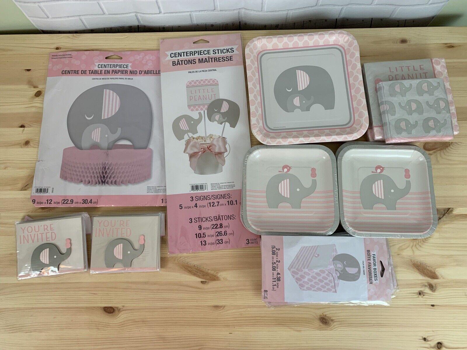 Lot Little Peanut éléphant Rose Fille Baby Shower Décorations de Fête Kit Fournitures