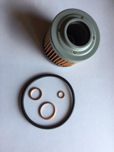 MZ MuZ SX 125 Ölfilter mit Ölfilterdeckel Dichtung /& Cu für Ablassschrauben .