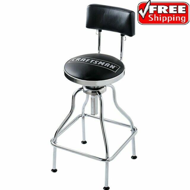 Fabulous Craftsman Workshop Counter Stool Adjustable Hydraulic Bench Seat Garage Black Machost Co Dining Chair Design Ideas Machostcouk