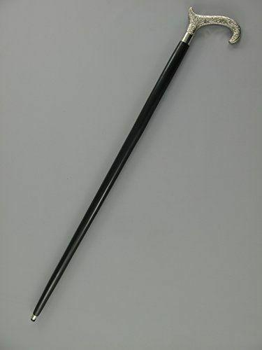 Vintage Silver Brass Head Antique Handle Handmade Walking Stick Wooden Cane Gift