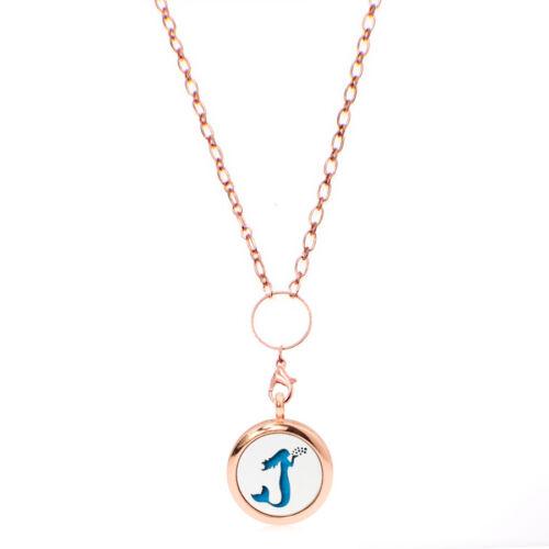 necklace 73cm 323 1set rose gold Plain 316L+zinc Aromatherapy Diffuser Locket