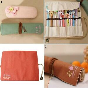 Canvas-Bag-Holder-Wrap-Roll-Up-Pen-Brushes-Makeup-Pencil-Case-Pouch-Intriguing
