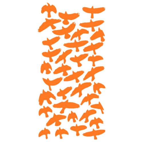 18 Coloris 36 oiseaux OIS005 Sticker Envolée d/'Oiseaux de 4 à 14 cm,
