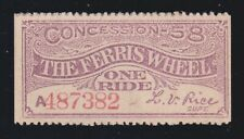 Ferris Wheel Concession Columbian Exposition Ticket Ch CU (-382)