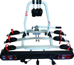 Car-amp-4x4-Tow-Ball-Fit-45kg-3-Bike-Bicycle-Travel-Rack-Carrier-Life-Guarantee