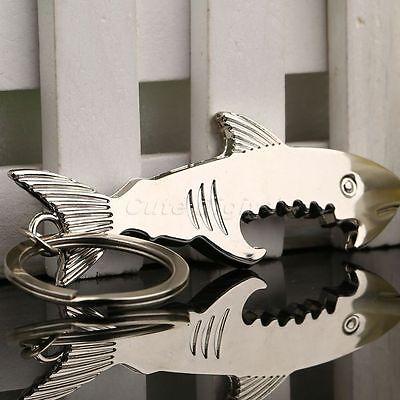 Creative Shark Beer Bottle Cap Opener Keychain Keyring Key Fob Bar Kitchen Tool