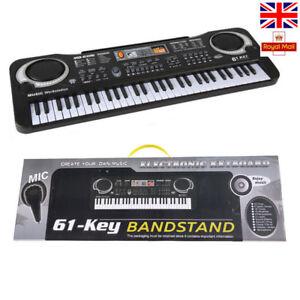 61KEY DIGITAL MUSIC ELECTRONIC KEYBOARD TOY ELECTRIC PIANO SET W MIC KIDS GIFT