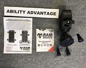 RAM-X-GRIP-w-TOUGH-CLAW-SMART-PHONE-HOLDER-for-Amigo-Mobility-Scooters-NEW