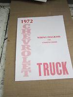 1972 Chevrolet Truck Wiring Diagram Booklet