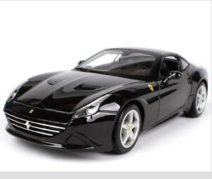 Bburago-1-18-Ferrari-California-T-Closed-Top-Black-Diecast-Car-Model-NEW-IN-BOX