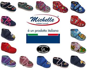 PANTOFOLE-BAMBINO-BAMBINA-CASA-PANTOFOLINE-MADE-IN-ITALY-PLANTARE-CUOIO-MICHELLE