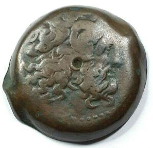 PTOLEMY-VI-180-145-BC-COPPER-ANCIENT-HEAD-OF-ZEUS