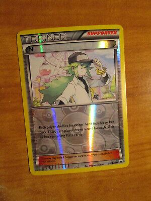 NM REVERSE Pokemon N Card DARK EXPLORERS Set 96//108 Trainer Black and White Holo