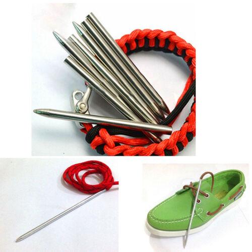 "3/"" Inches Multi Purpose Paracord Needle leather lacing kit Thread Shaft U C9"