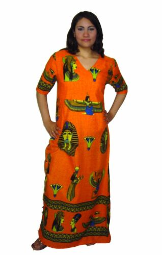 Damen Kaftan Hauskleid Tunika Strandkleid Faschingkostüm  Ägypten KA00793