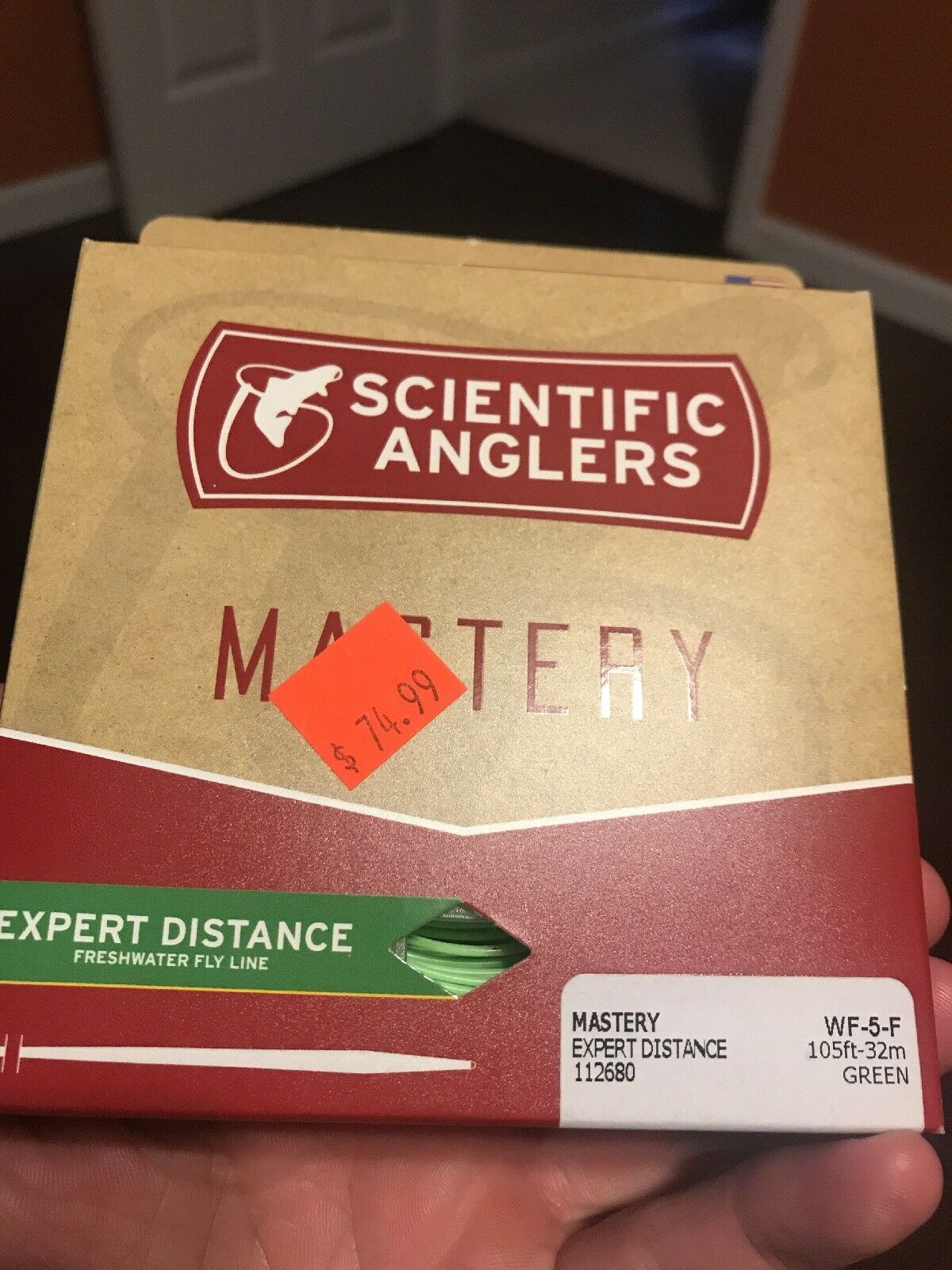 SCIENTIFIC ANGLERS MASTERY EXPERT DISTANCE WF5F  5 WEIGHT FLY LINE IN verde