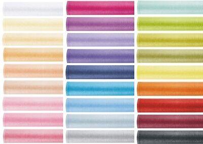 (0,39€/1m) Organza Gesäumt Rolle Deko Tischläufer Stoff 36 cm x 9 m Farben Tisch