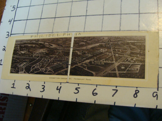 Vintage Paper  Card With Diagram Of Fairmont Park  In Two