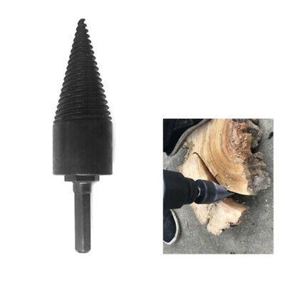 1xLog Splitter Screw Cone Kindling Firewood Splitter for Hand Drill Stick Copper