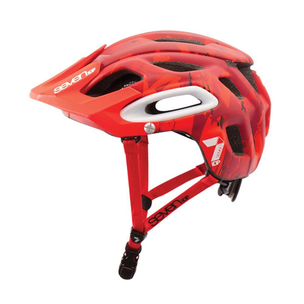 All Mountain MTB enduro cycle helmet 7IDP M2 Red Camo   sale online save 70%