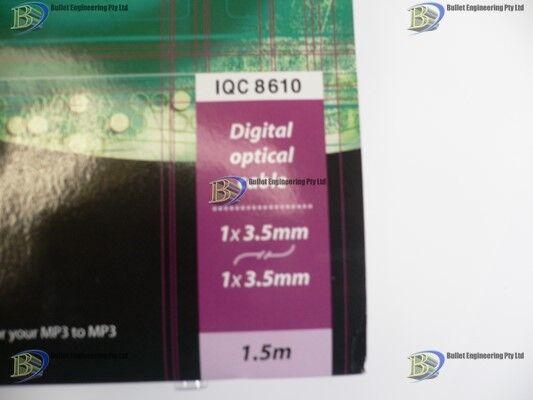 1.5m ISIX Optical Fibre 3.5mm Mini-Toslink Digital Audio Cable Cord Lead