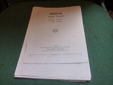 MULLARD E7600 Tester VALVOLA MANUALE TECNICO istruzioni e circuito