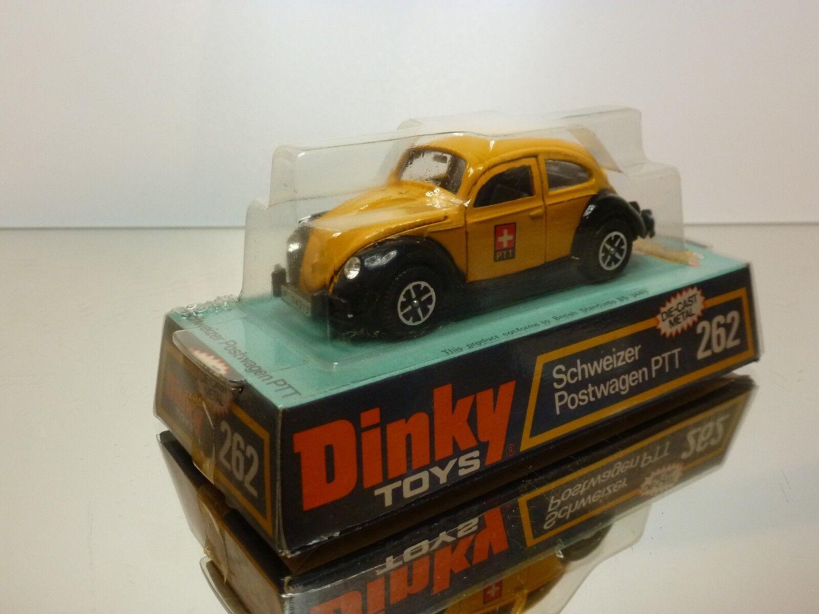 DINKY TOYS 262 VW VOLKSWAGEN BEETLE SWISS PTT POSTWAGEN - 1 43 - VG IN BOX