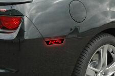 Vinyl Decal Side Marker Light Wrap Chevrolet RS for 2010-2015 Camaro Matte Black