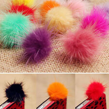 Rabbit Fur Ball Earphone Ear Cap Anti Dust Plug Cover 3.5mm For Cell Phone Pop