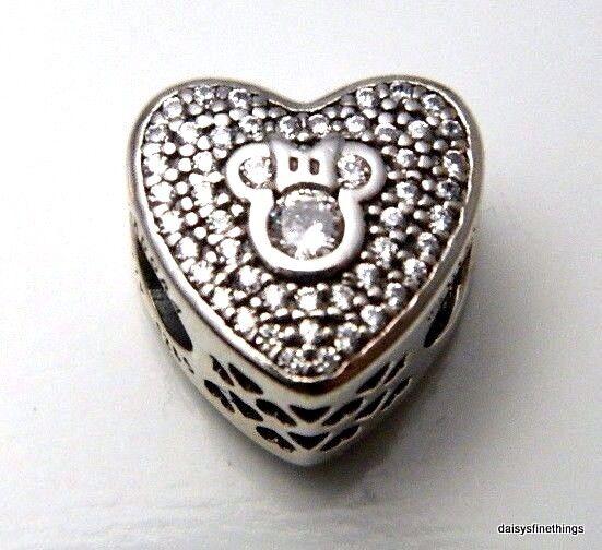 2ecfde0f9 Authentic PANDORA Disney Mickey & Minnie Sparkling Heart Charm 792049CZ