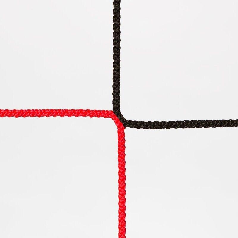 Fußballtornetz Tornetz Fußballnetz Fußballnetz Fußballnetz 7,5 x 2,5 m, 0,80   2,00 m, 4 mm, Schwarz Rot d5cb87