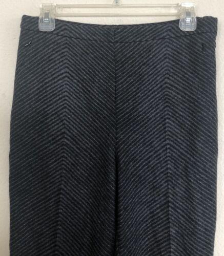 et à cachemire et rayures Pantalon Akris gris 6 Us laine Size en évasé noir qwpX4tU