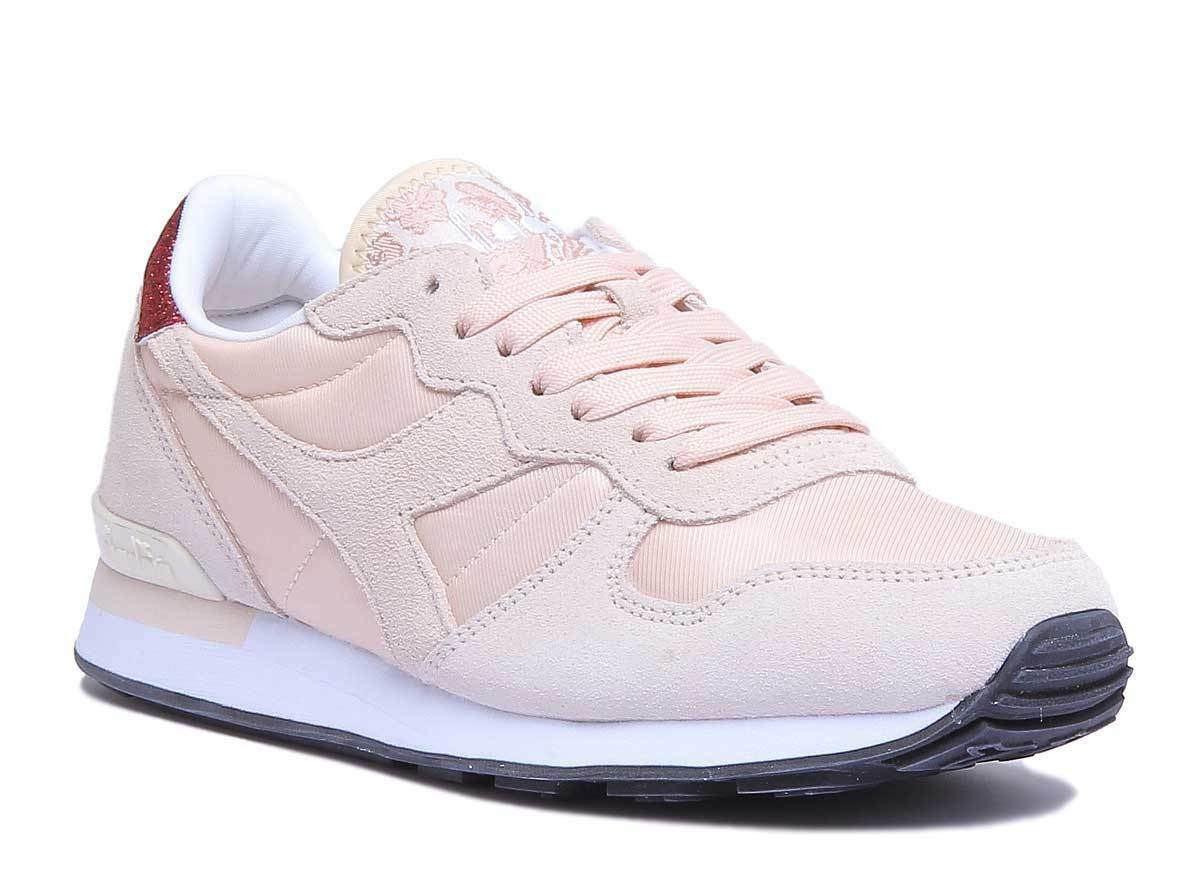 Diadora Camaro WN Damens Light Baby Pink Suede Fabric Trainers Größe UK 3 - 8